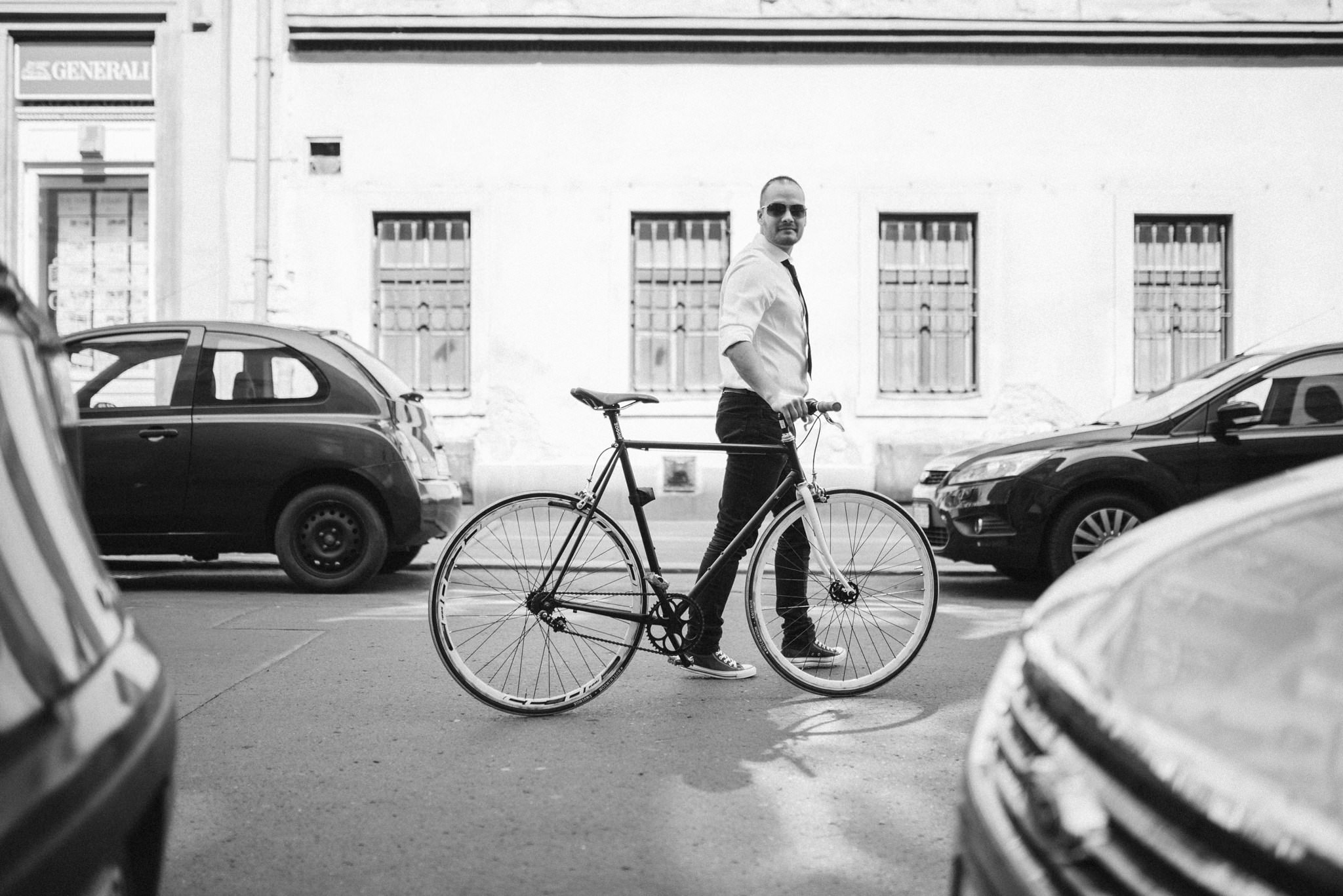 Budapest Bike Ride Engagement With Coffee