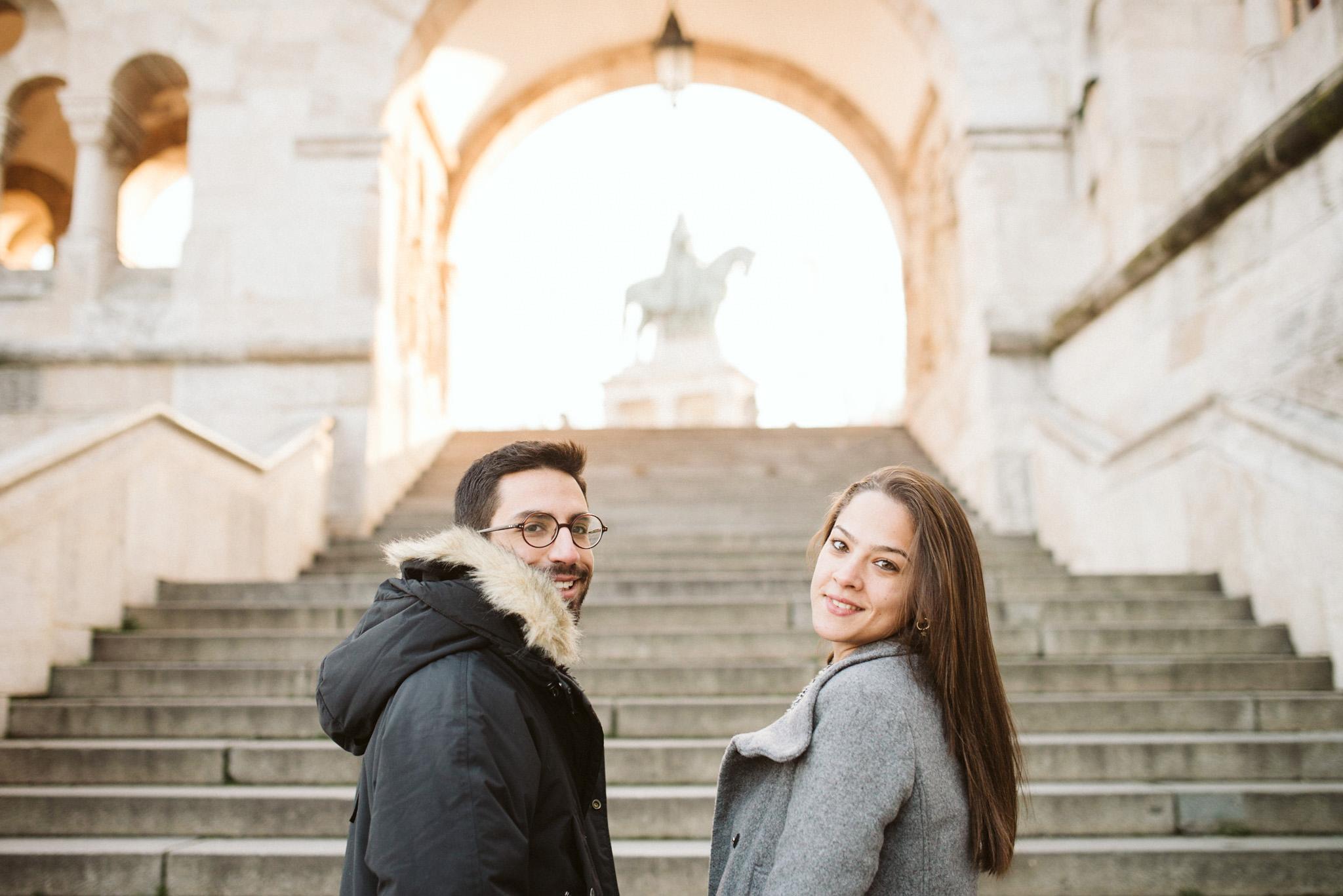 Rokolya Photography Winter Budapest Engagement Buda Castle Hungary