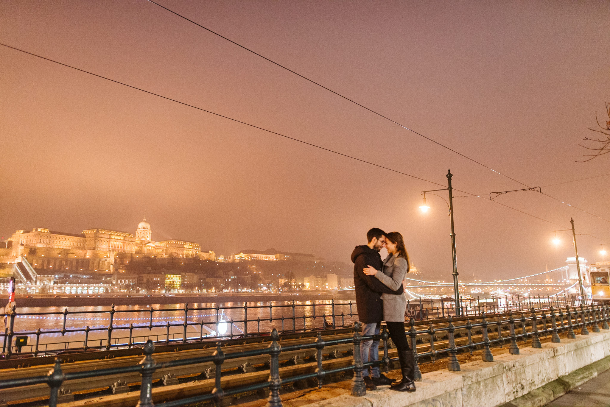 Rokolya Photography Winter Budapest Engagement Buda Castle Hungary