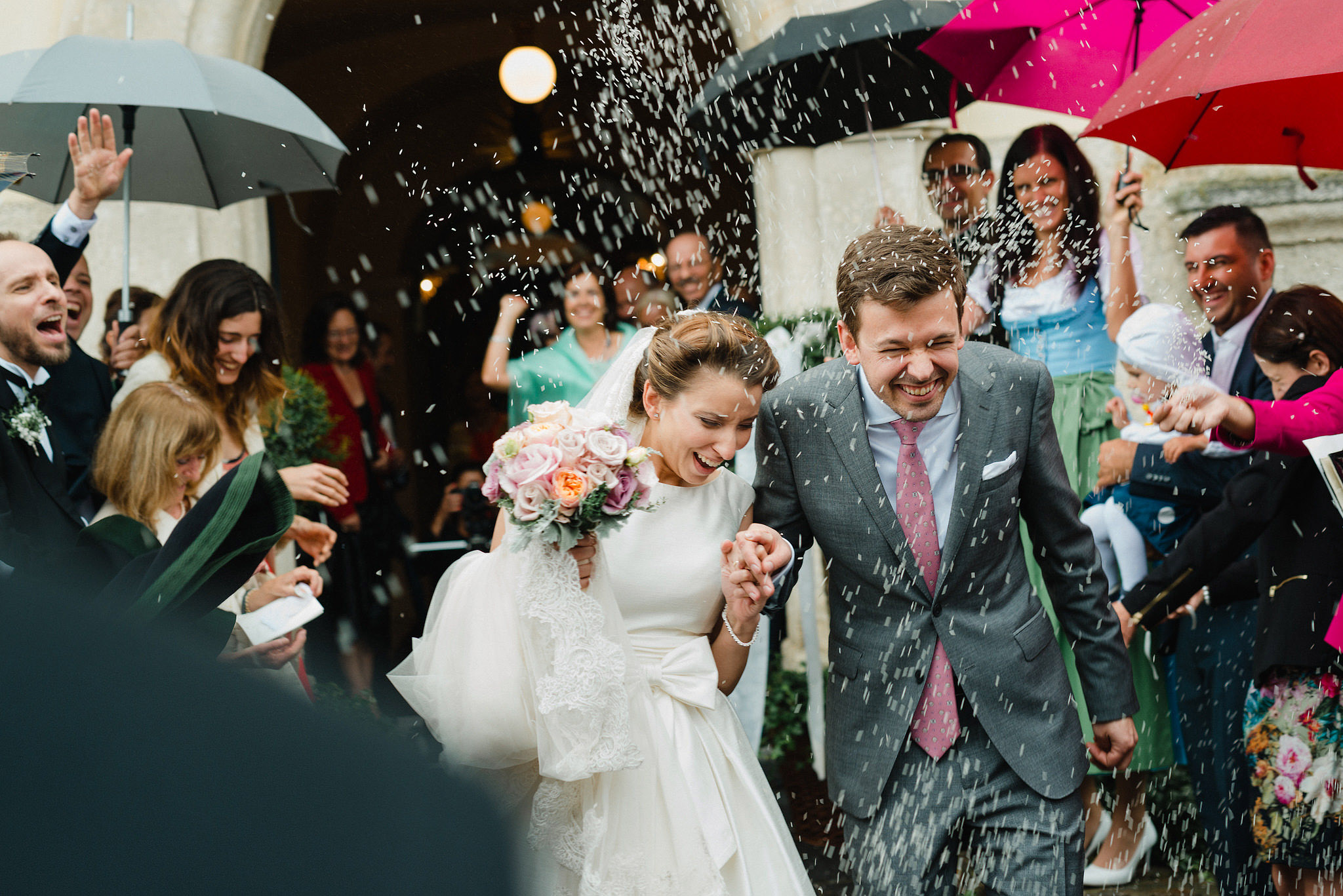 Rokolya Photography Church Exit Rice Shower Austrian Wedding Photographer Teresa Johannes