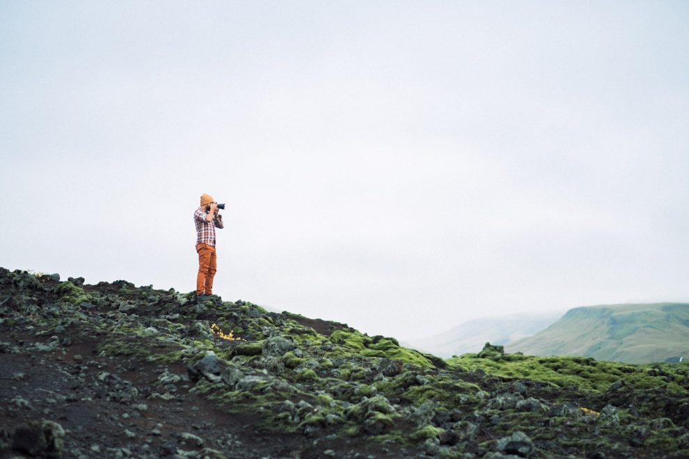 Roky on Lava field