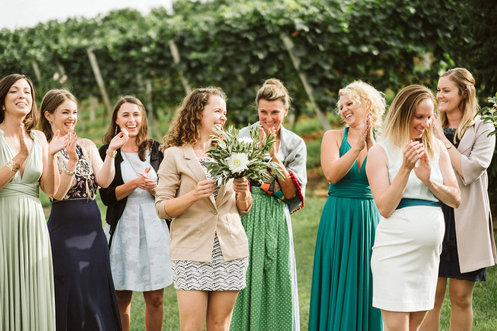 Austrian Wedding Bouquet Toss