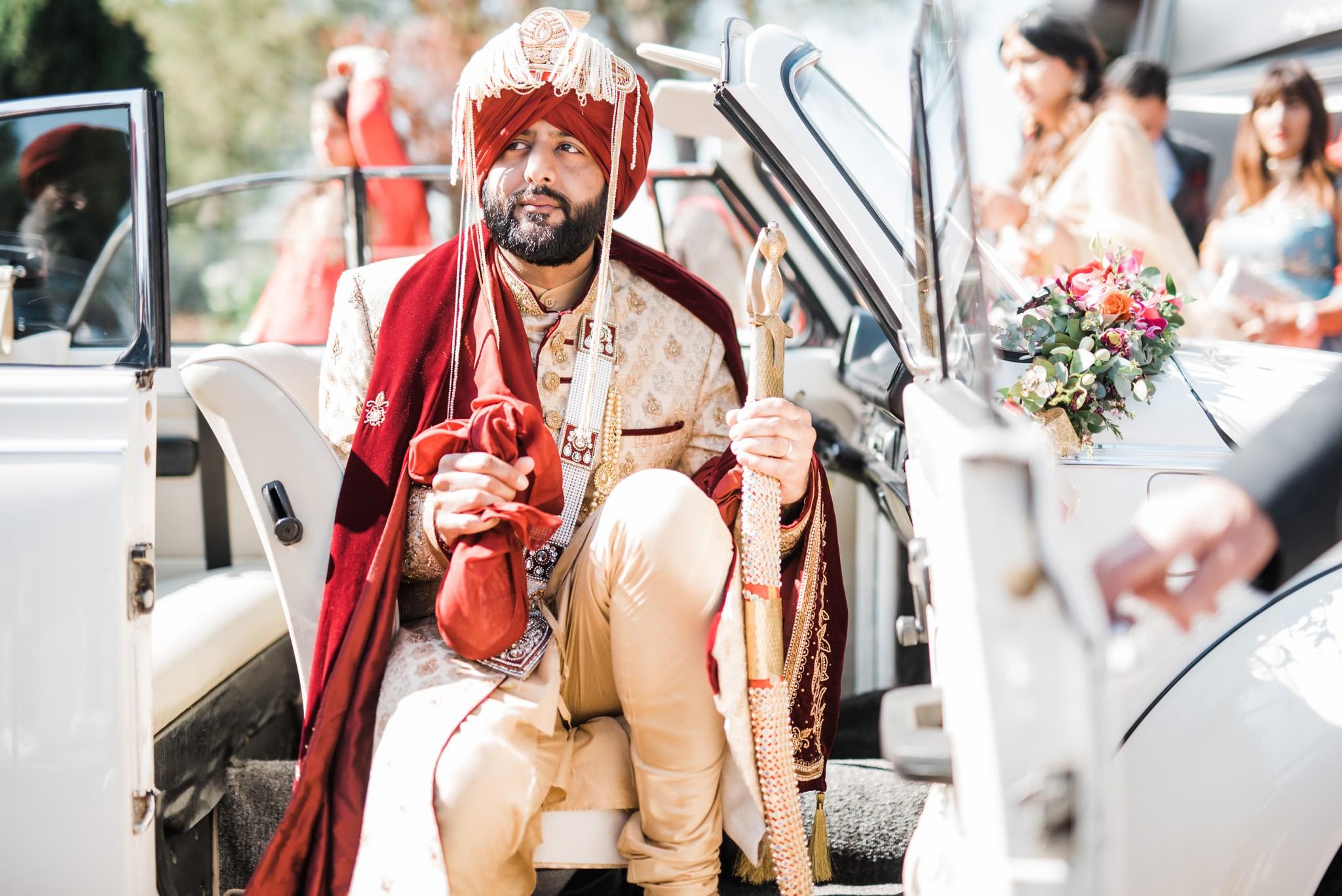 Indian Wedding Groom Arrive