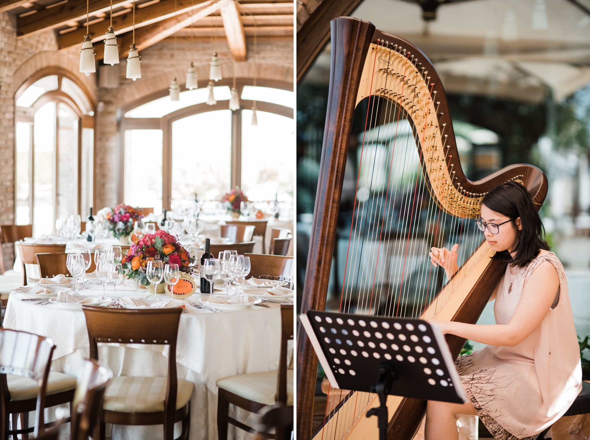 Harp Player Wedding Photographer Italy