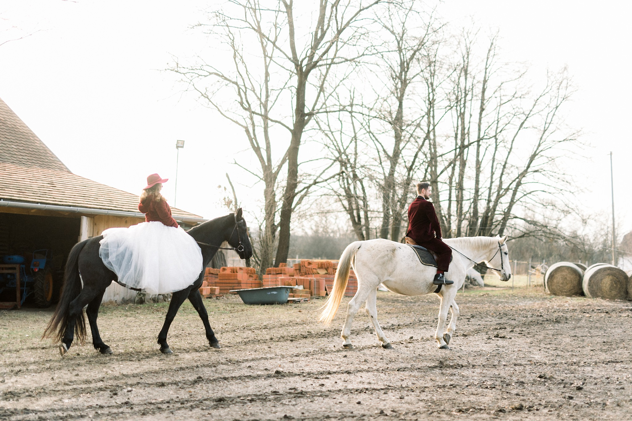 Sweet Winter Horseback Wedding Photoshoot 10