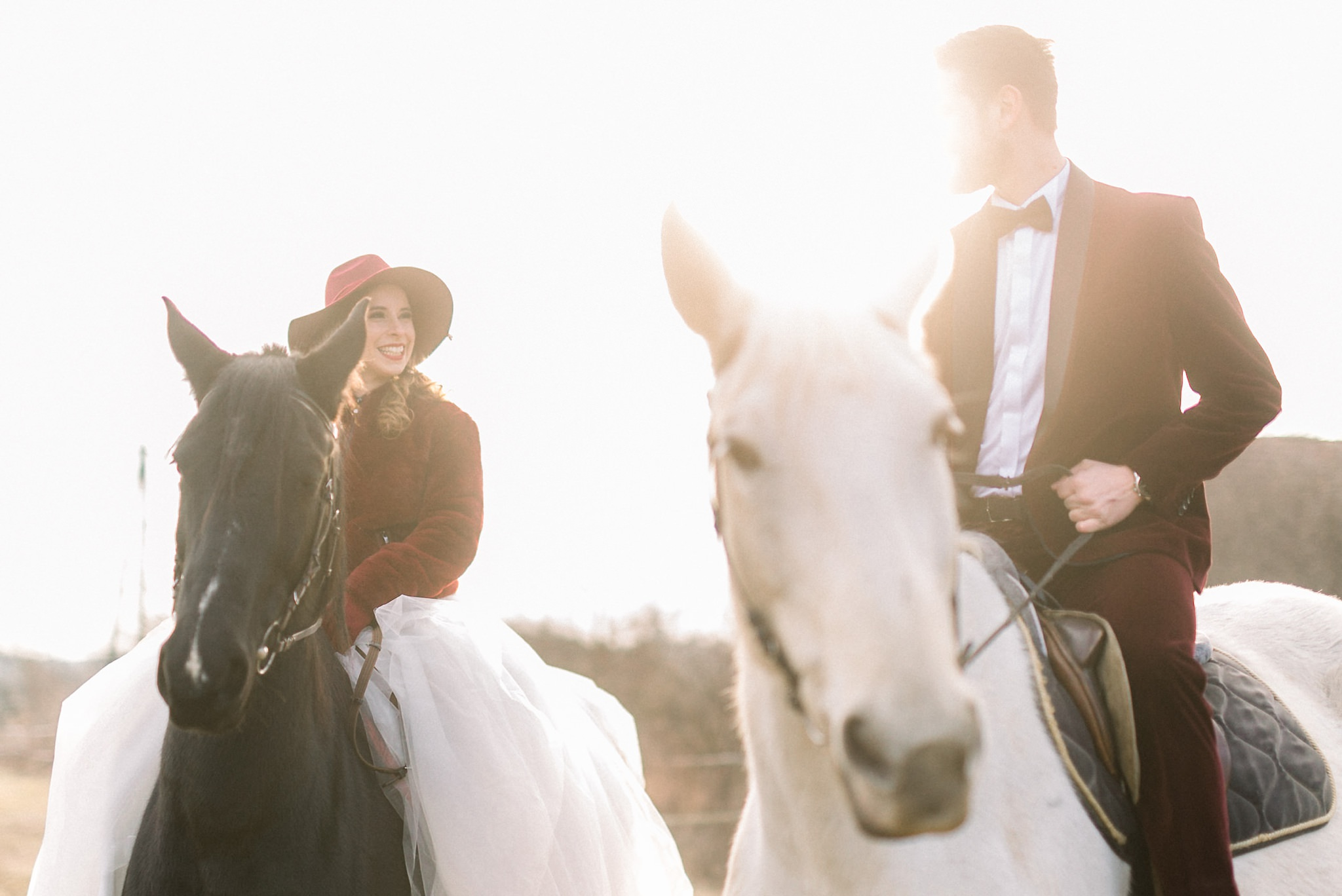 Sweet Winter Horseback Wedding Photoshoot 15