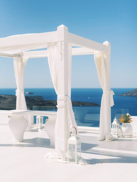 Ceremony Location Dana Villas Santorini Island