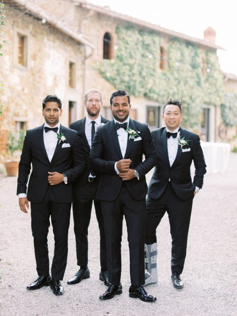 Groomsmen Tuxedo Tuscany Wedding