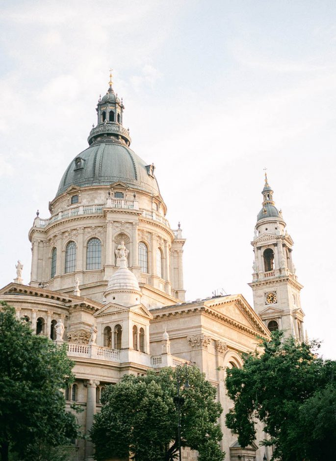St Stephen's Basilica Budapest in sunset